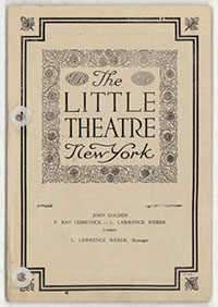 [Martha Graham, Little Theatre, October 16, 1927] [concert program]