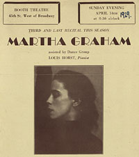 [Martha Graham, Booth Theatre, April 14, 1929]  [concert program]