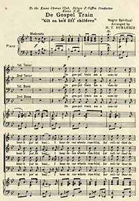 """De  Gospel Train ('Git on bo'd lit'l children')"" by Harry Thacker Burleigh"