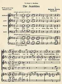 """The  Jumblies, Op. 68, No. 4"" by Arthur Foote"