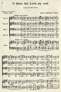 """ O Bless the Lord, My Soul"" by John Knowles Paine"
