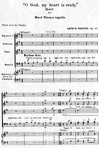 """ O God, My Heart Is Ready, Op. 17"" by Arthur B. Whiting"