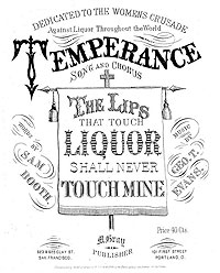 Songs of the Temperance Movement and Prohibition