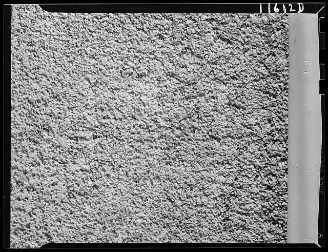 Pebbled Stucco Wall.  July 1942.  Photographer, John Ferrell.  Library of Congress.