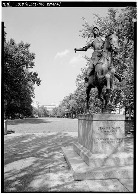 Joan of Arc statue in Meridian Hill Park circa 1987