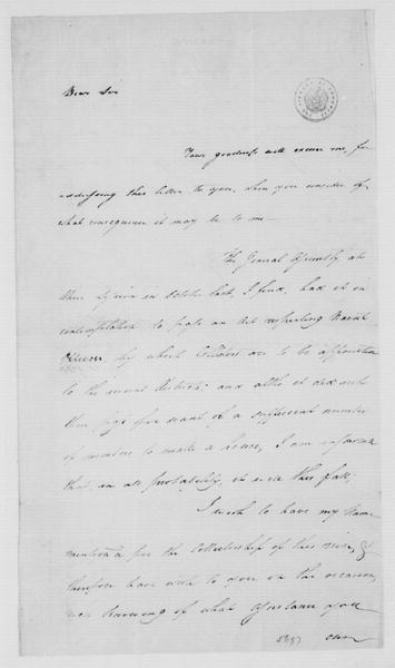 John Dawson to James Madison, July 20, 1785.