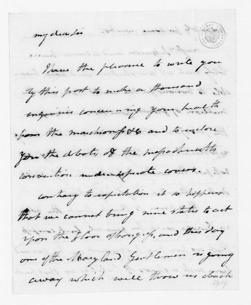 Cyrus Griffin to James Madison, May 26, 1788.