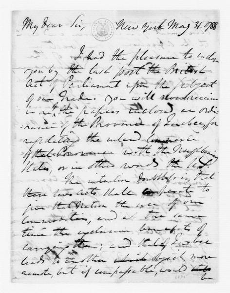 Edward Carrington to James Madison, May 31, 1788.
