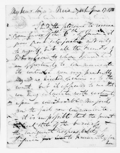 Edward Carrington to James Madison, June 17, 1788.