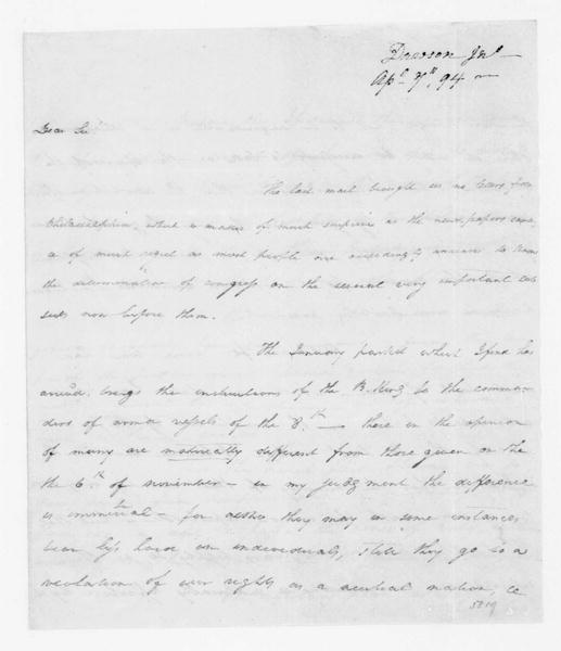 John Dawson to James Madison, April 7, 1794.