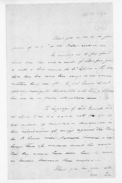 John Dawson to James Madison, April 14, 1794.