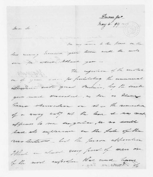 John Dawson to James Madison, May 6, 1794.