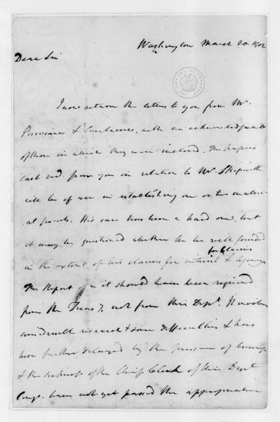 James Madison to James Monroe, March 20, 1802.