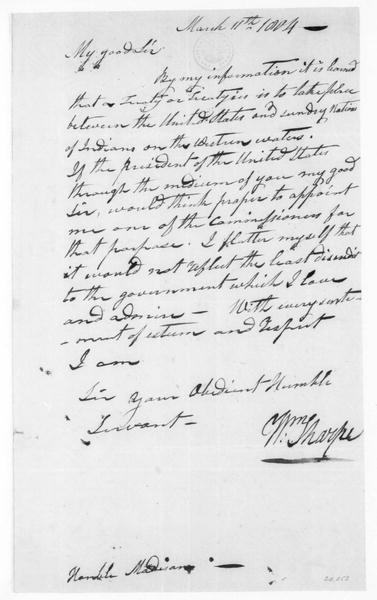 William Sharpe to James Madison, March 11, 1804.