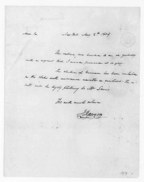 John Dawson to James Madison, May 2, 1804.