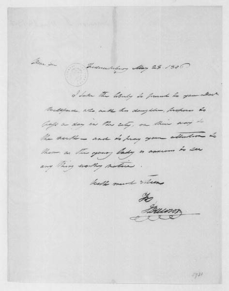 John Dawson to James Madison, May 28, 1806.