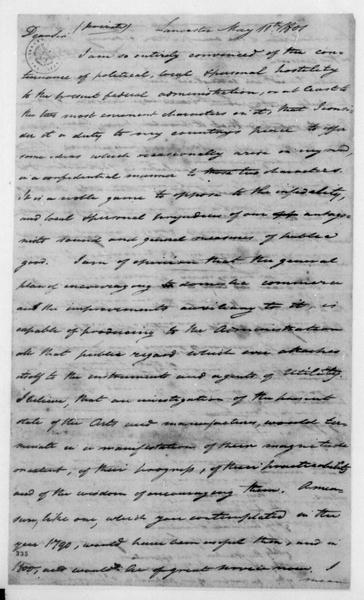 Tench Coxe to James Madison, May 11, 1801.