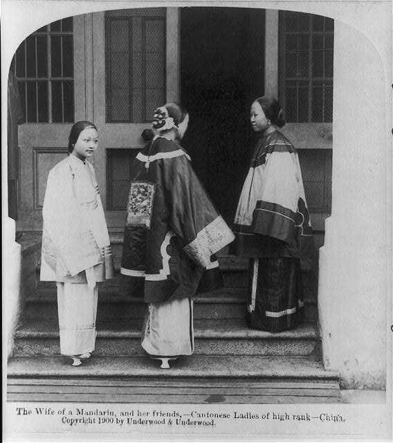 The wife of a Mandarin and her friends - Cantonese ladies of high rank - China