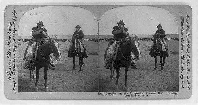 Library of Congress.  Autumn Beef Roundup.  1904.