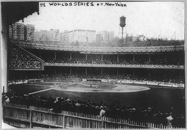 Polo Grounds, 1913 World Series.  Library of Congress.