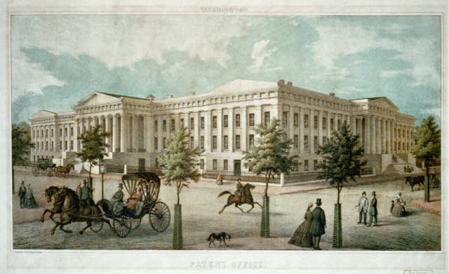 Washington. Patent Office, lith. by E. Sachse & Co., Balto. [published between 1865 and 1869], courtesy of the Library of Congress Prints and Photographs Reading Room