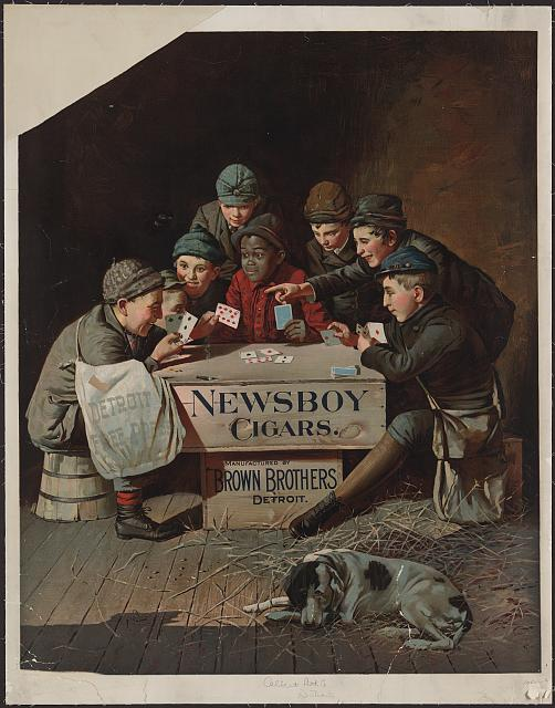 Newsboy Cigars. c1894. Library of Congress.