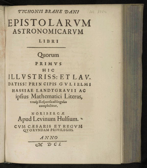 Image 4 of Epistolarum astronomicarum libri.