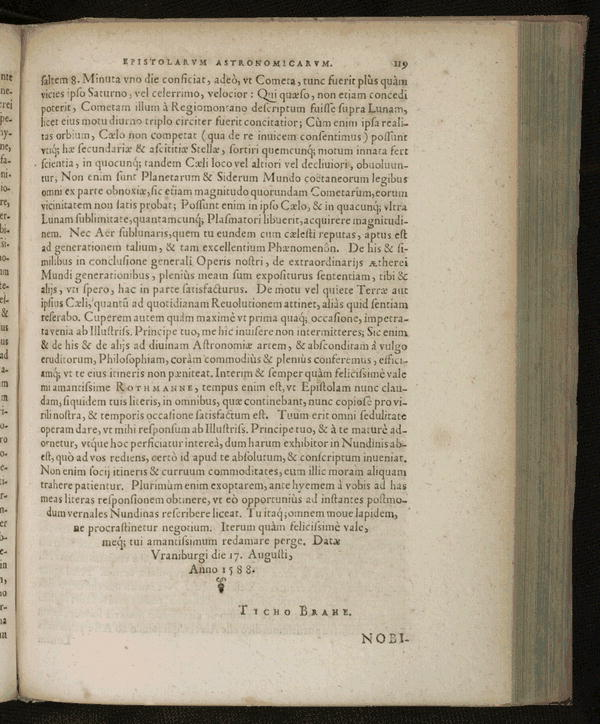 Image 161 of Epistolarum astronomicarum libri.