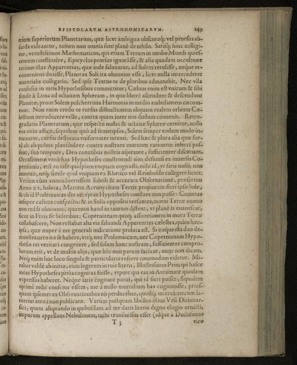 Image 191 of Epistolarum astronomicarum libri.